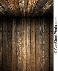 val, dávný, strop, dřevo, grunge