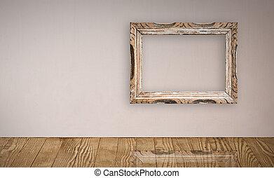 val, portrét rámce, dávný, nad