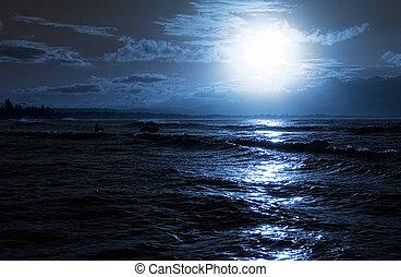 Večer na pláži