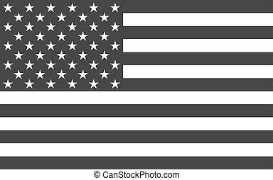 veřejný, americký, národnostní, úřední, prapor