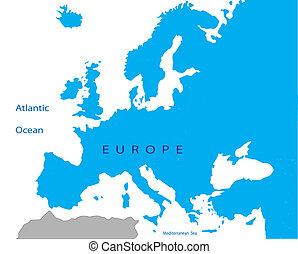veřejný, evropa, mapa