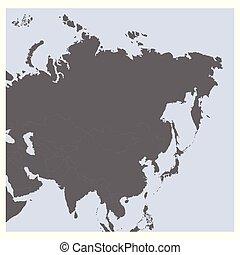 veřejný, mapa, vektor, asie
