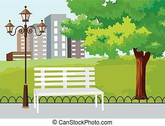 Veřejný park vektoru