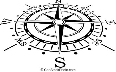 Vector black kompas