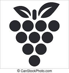Vector ilustrace jediného izolačního grapefru