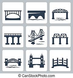 Vector izolační mosty nastaveny