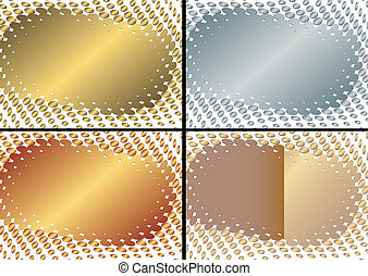 (vector), zlatý, konstrukce, vybírání, stříbřitý