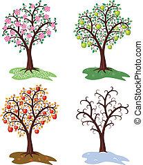 Vektor čtyři set let jabloňů