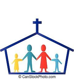 Vektor církve a rodinného deníku