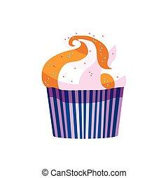 vektor, cupcake