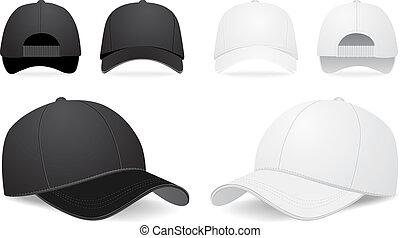 vektor, dát, čapka, baseball