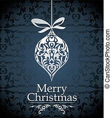 vektor, design, vánoce