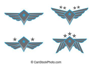 vektor, křídla, ilustrace