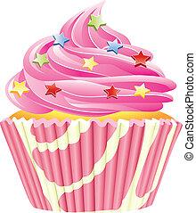 vektor, karafiát, cupcake