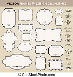 vektor, konstrukce, dát, okrasa, ozdobený