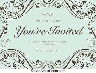 Vektor modré pozvánky