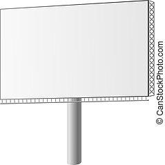 vektor, plakátovací tabule, ulice, ilustrace