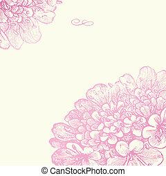 Vektor růžový čtvercový rám
