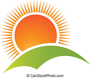 Vektor Sun a horské horské horečky