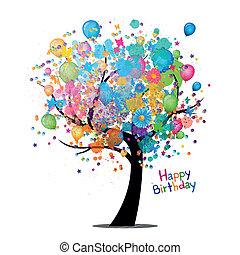 Vektor, všechno nejlepší k narozeninám