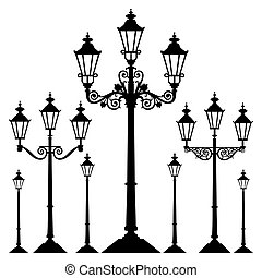 vektor, za, street light