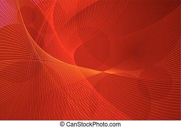 vektor, zaměstnání, červené šaty grafické pozadí, mávnutí