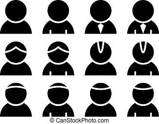 Vektorová černá identifikace