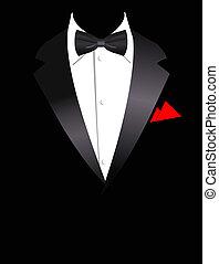 Vektorová ilustrace elegantního obleku