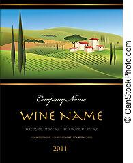 Vektorová značka vína
