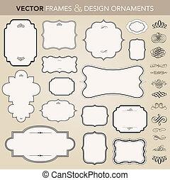 Vektorové sady a ornamenty