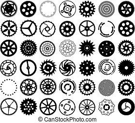 Vektorové sady sériových převodů a jiných kulatých objektů