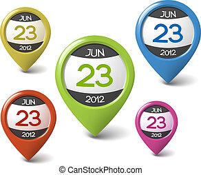 Vektorový kalendář pro vaši síť