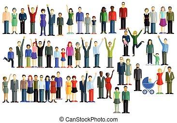 Velká skupina lidí