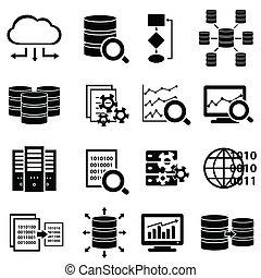 Velké data a technologie ikony