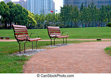 velkoměsto park, zvyk, chodit