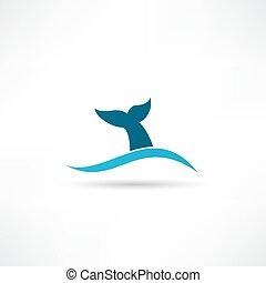 velryba opatřit koncem, ikona