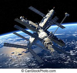 Vesmírná stanice orbita Země