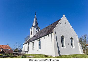 vesnice, vierhuizen, církev, dějinný, maličký, neposkvrněný