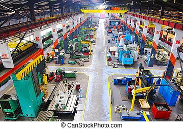 Vevnitř továrny na výrobu