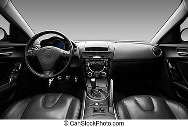 View z interiéru moderního automobilu