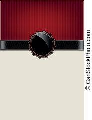 vinobraní, abstraktní, červené šaty karta