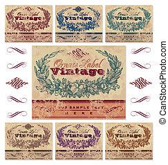 vinobraní, opatřit nápisem, dát, (vector)