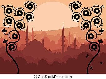 Vintage arabská krajina