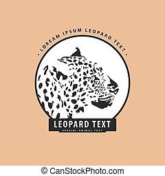 vkusný, leopard, emblém
