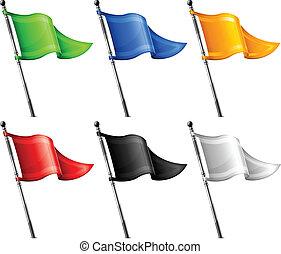 vlaječka, dát, trojúhelník