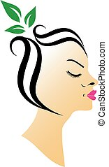 vlas, lázně, organický, emblém