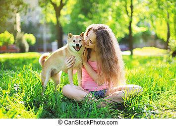 vlastník, léto, pes