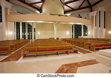 vnitřní, moderní, církev