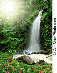 vodopád, překrásný