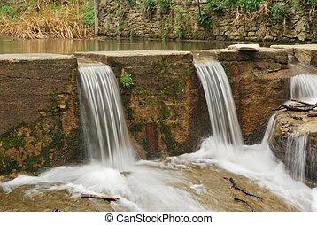 vodopády, řeka, rupit